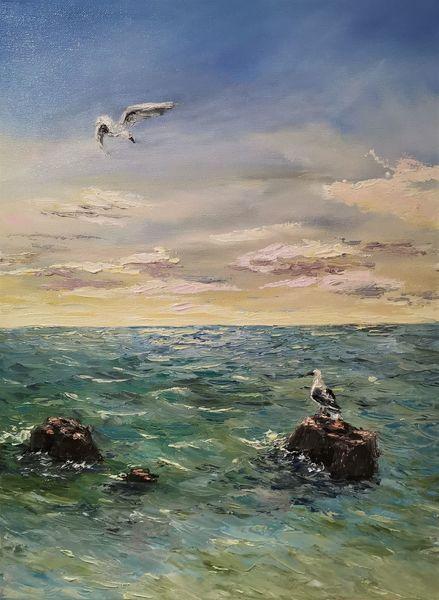 Natur, Meer, Ozean, Wasser, Malerei