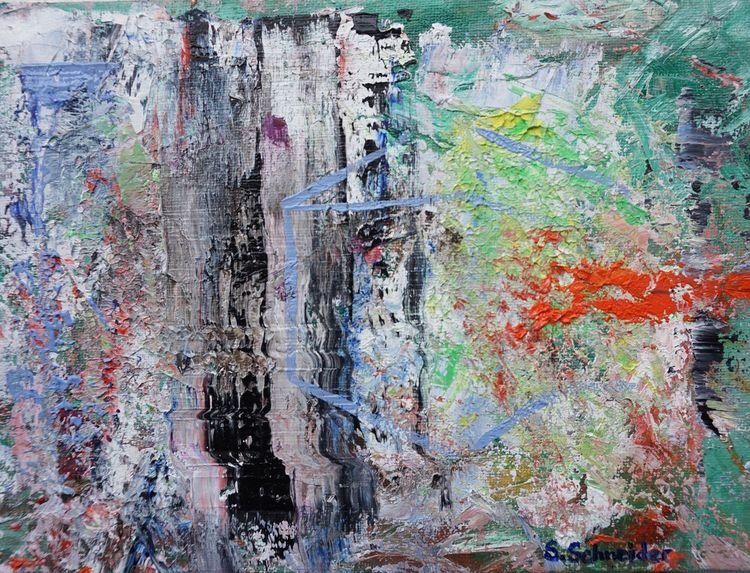 Abstrakt, Kubus, Würfel, Malerei