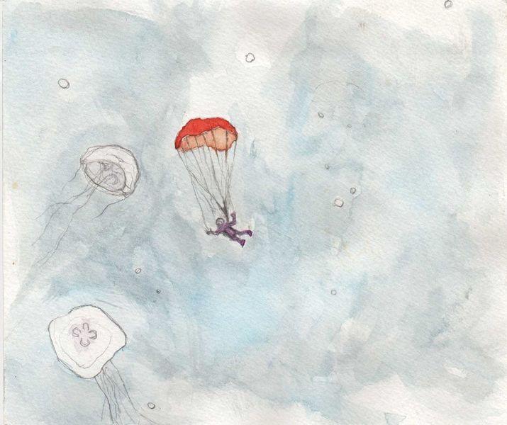 Schweben, Fallschirm, Qualle, Eintauchen, Meer, Fantasie