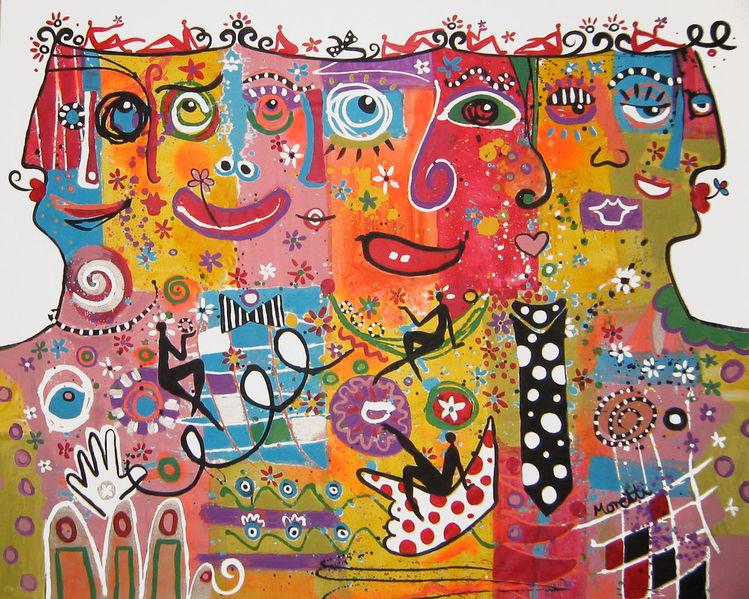 Modern art, Abstrakt, Acrylmalerei, Malerei acryl, Malerei modern, Gesicht