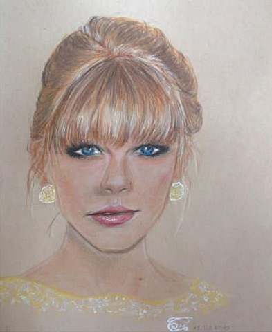 Hyperrealismus, Stern, Polychromos, Swift, Zeichnung, Sängerin