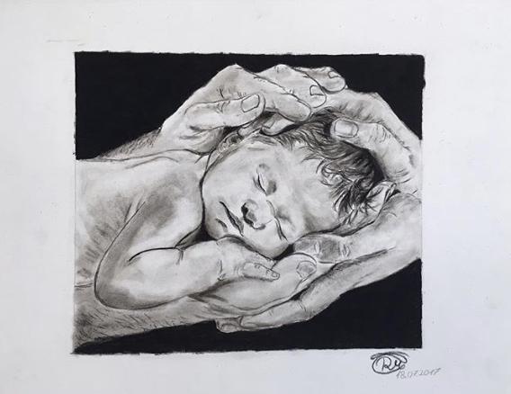 Zeichnen, Erinnerung, Eltern, Skizze, Kinder, Hände