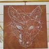 Bronze, Gold, Wolf, Zeichnungen