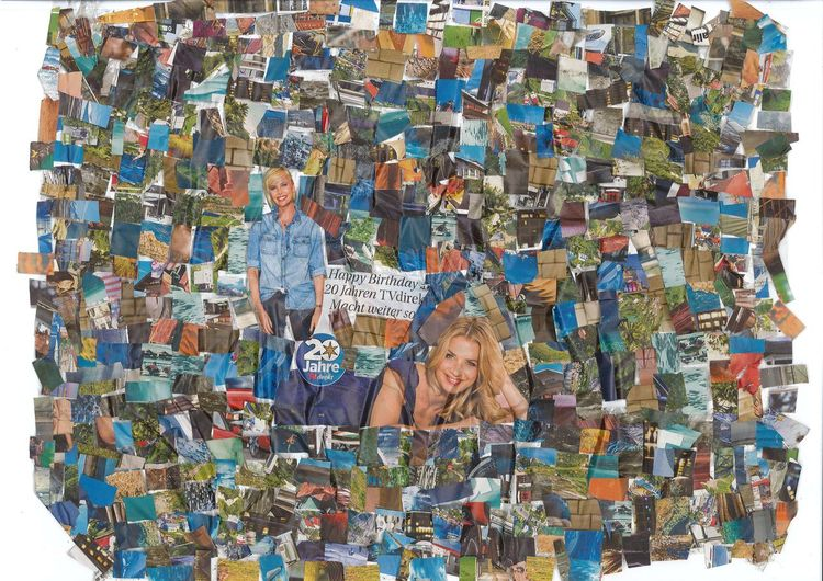 Collage, Kino, Farben, Tv, Blau, Musik