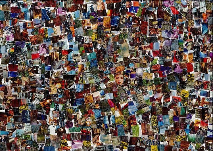 Farben, Musik, Tanz, Collage, Kino, Bunt
