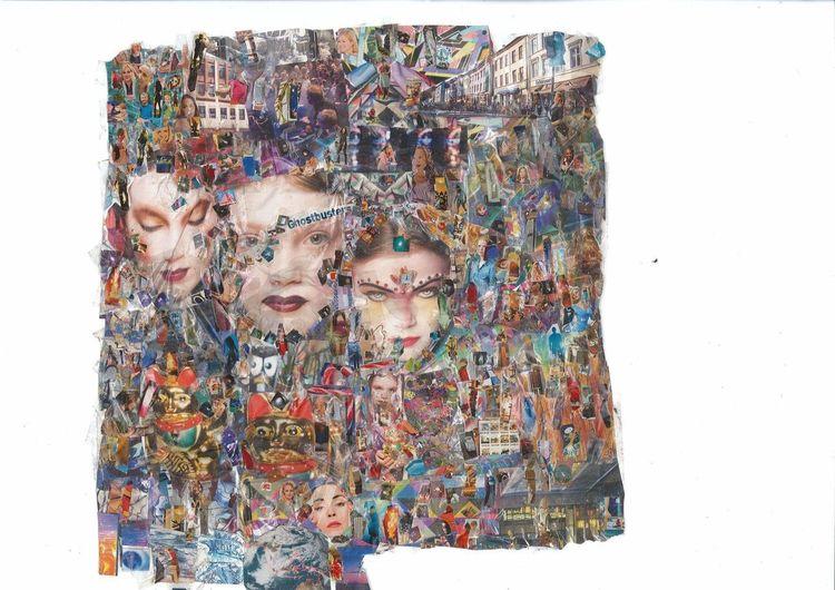 Tanz, Collage, Tv, Farben, Kino, Bunt