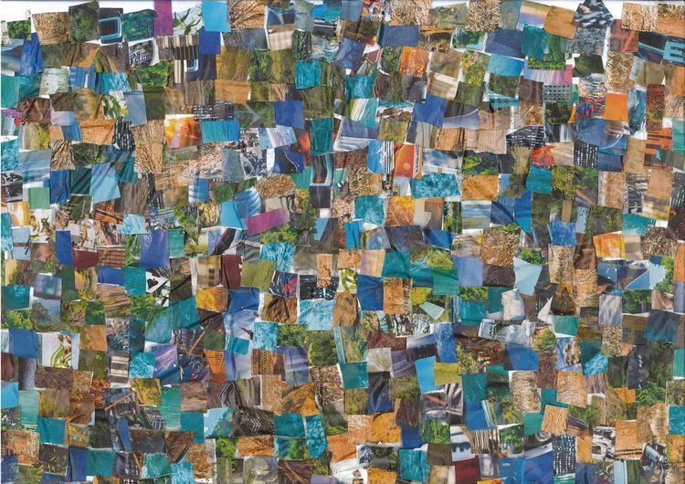 Collage, Bunt, Farben, Mischtechnik, Perfekt