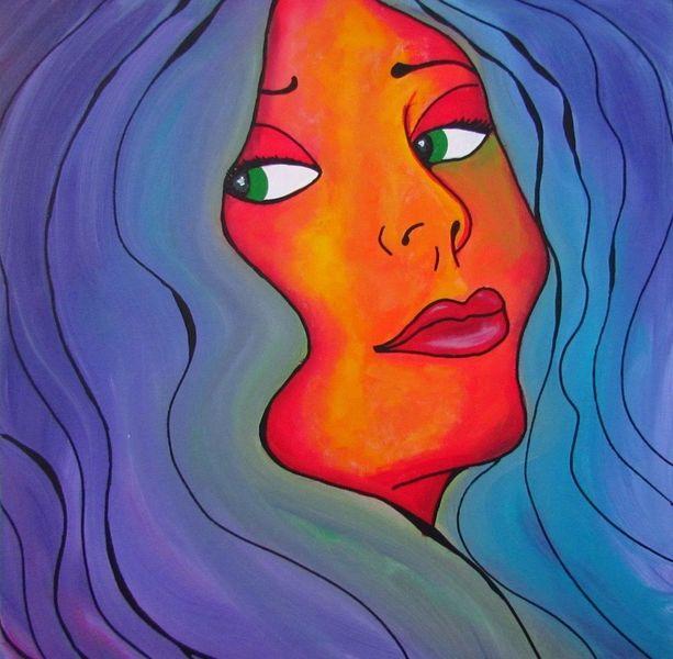 Pop art, Violett, Modern, Lila, Modern art, Frau