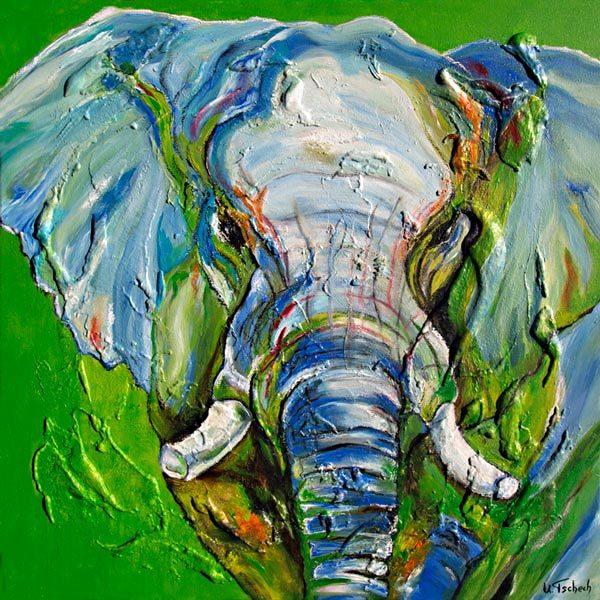 Tiere, Elefant, Malerei,