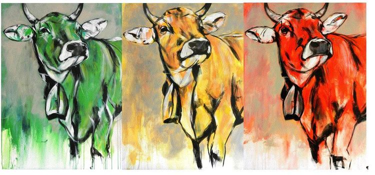 Farben, Tiere, Acrylmalerei, Malerei