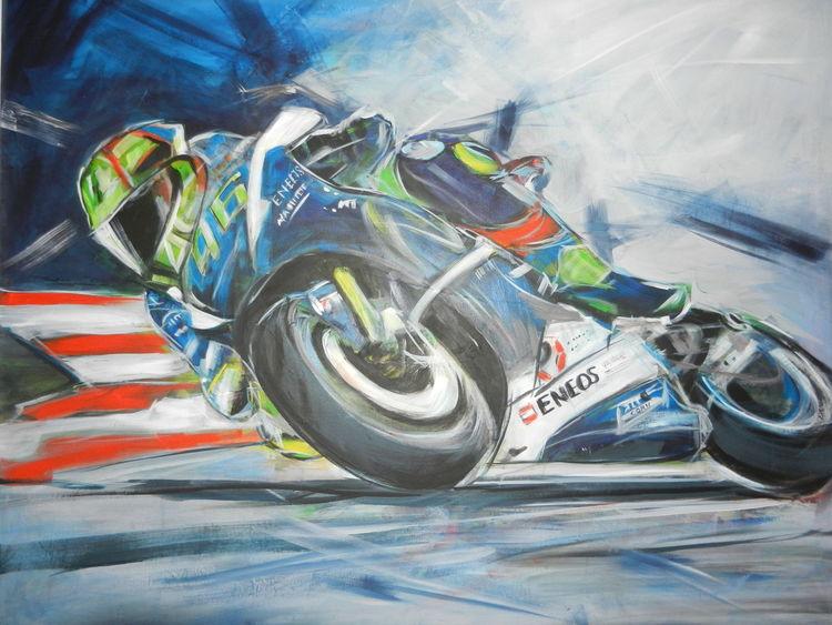 Thedoc, Motorrad, Motorradsport, Malerei