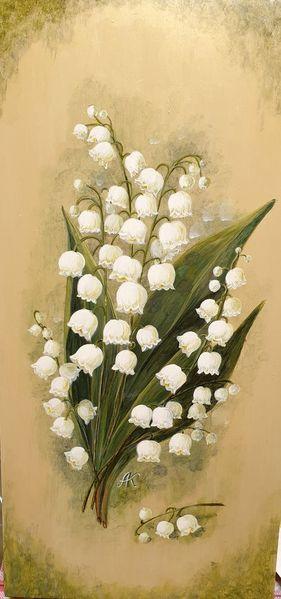 Maiglöckchen, Blumen, Tal, Lilie, Malerei,