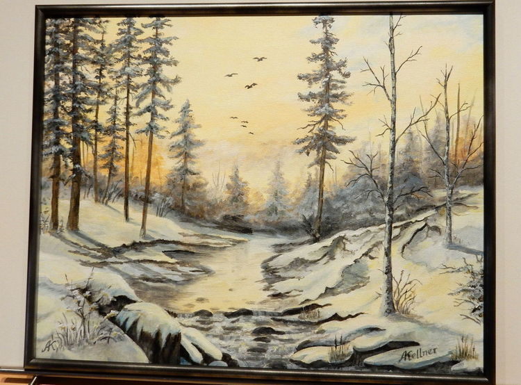 Winter, Schnee, Sonne, Spiegelung, Hell, Bach