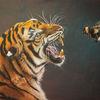 Tiger, Dunkel, Schwarz, Orange
