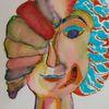 Mädchen, Frau, Portrait, Expressionismus