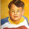 Sohn, Portrait, Junge, Malerei