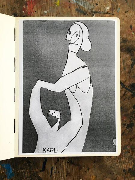 Zeichnung, Seine mutter, Zeichnungen,