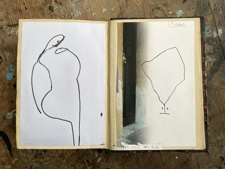 Monika, Menschen, Zeichnungen,
