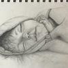 Portrait, Schwarz weiß, Kind, Zeichnung