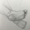 Zeichnung, Skizze, Fuß, Bleistiftzeichnung