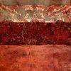 Collage, Pigmente, Struktur, Rot