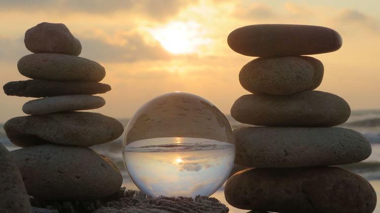 Wasser, Sonnenuntergang, Sonne, Glaskugel, Abend, Frankreich