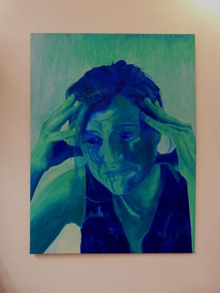 Portrait, Acrylmalerei, Artbodensee, Bodensee, Depression, Friedrichshafen