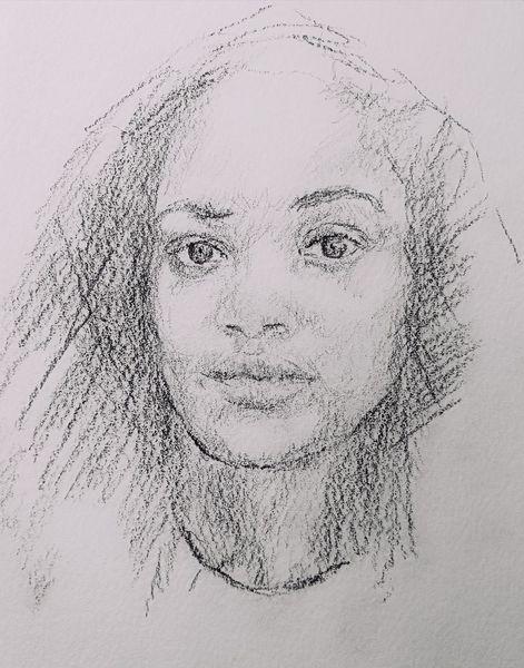 Frau, Portrait, Gesicht, Zeichnungen