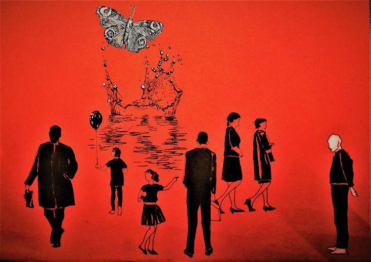 Welt, Menschen, Transzendenz, Kind, Luftballon, Schmetterling