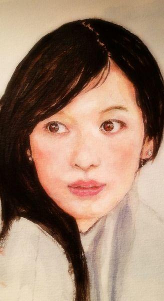 Augen, Frau, Gesicht, Malerei, Portrait