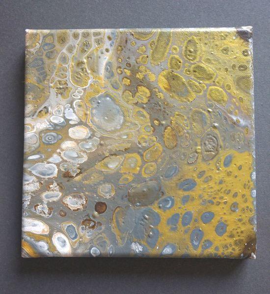 Quadrat, Gold, Malerei,