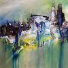 Stadt, Abstrakt, Fantasie, Malerei