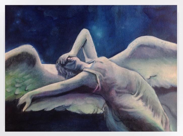 Engel, Engelsflügel, Blau, Modern art, Schutzengel, Geschenk