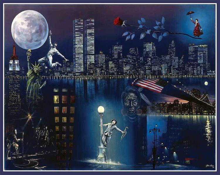 New york, Statue, Fred astaire, Freiheit, Malerei, York