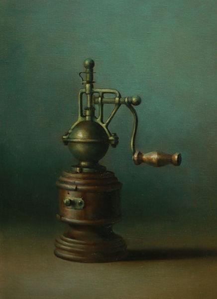 Pfeffermühle, Ölmalerei, Grün, Malerei