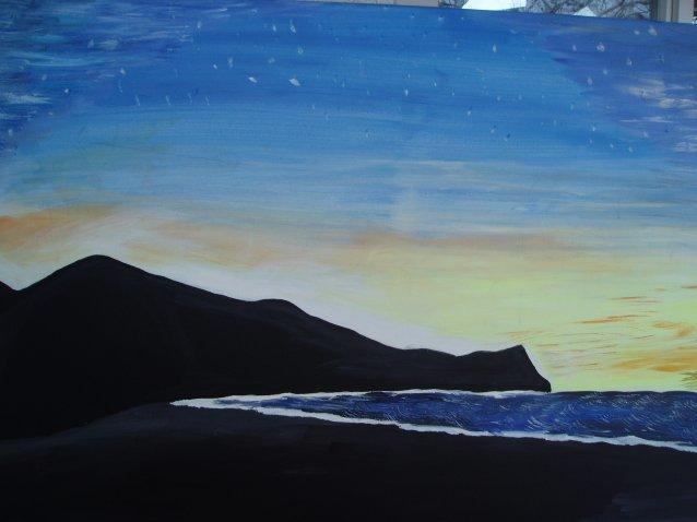 Acrylmalerei, Malerei, Nachthimmel,