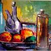 Weiß, Blau, Farben, Malerei modern