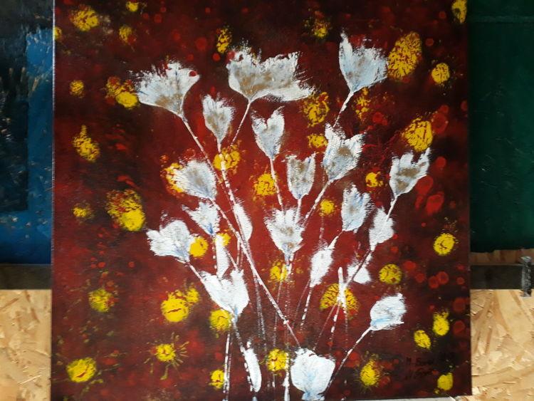Farben, Blumen, Abstrakt, Malerei