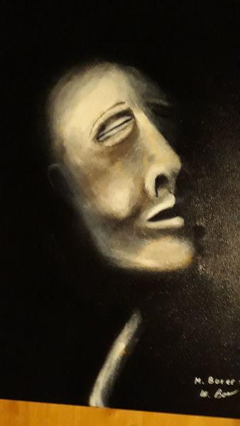 Modern art, Menschen, Schwar, Malerei, Schlaf