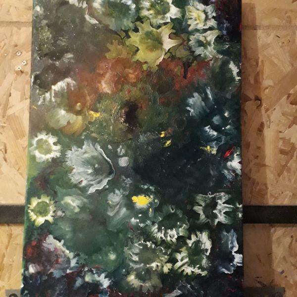 Farben, Blumen, Modern art, Malerei