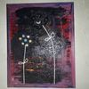Abstrakt, Blumen, Modern art, Mischtechnik