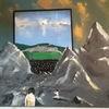 Landschaft, Menschen, Modern art, Malerei