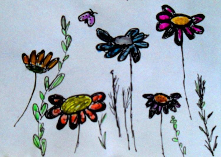 Frühling, Blumen, Pflanzen, Malerei