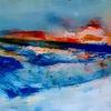 Rot, Abstrakt, Blau, Malerei