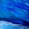 Blau, Meer, Gischt, Malerei