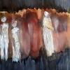Begegnung, Engel, Menschen, Malerei