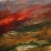Rot, Abend, Dunkel, Malerei