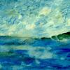Himmel, Meer, Blau, Malerei