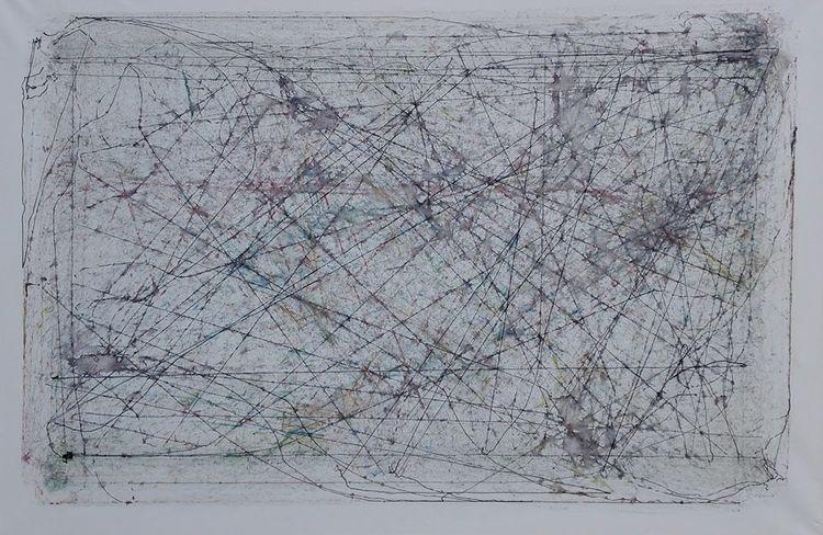 Linie, Formal, Farben, Abstrakt, Mischtechnik