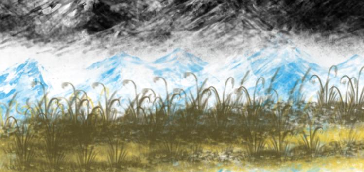 Farben, Landschaft, Malerei, Digitale kunst